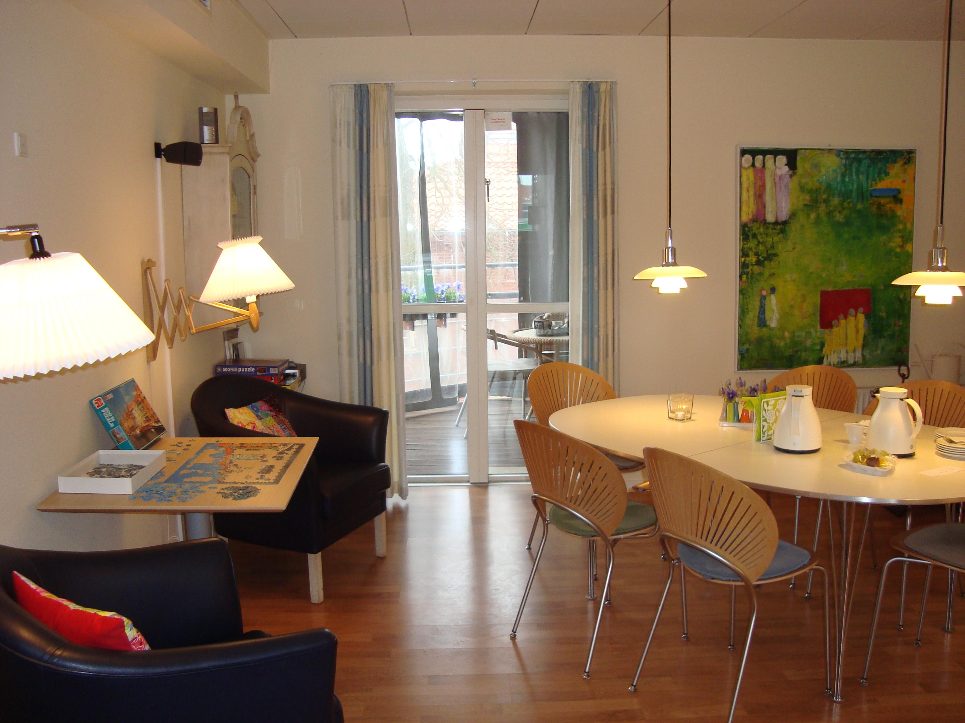Hospice sydvestjylland   køkken/ alrummet på 1. sal